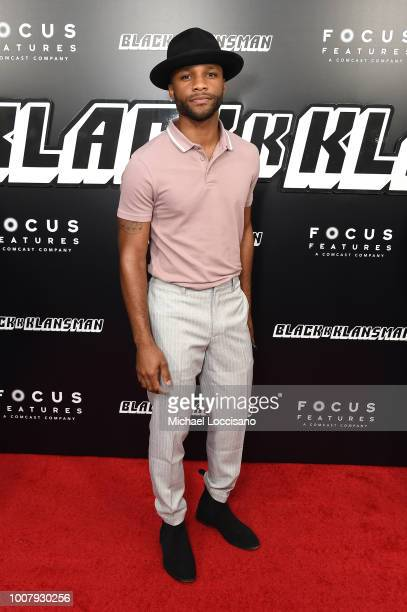 Dyllon Burnside attends the BlacKkKlansman New York Premiere at Brooklyn Academy of Music on July 30 2018 in New York City