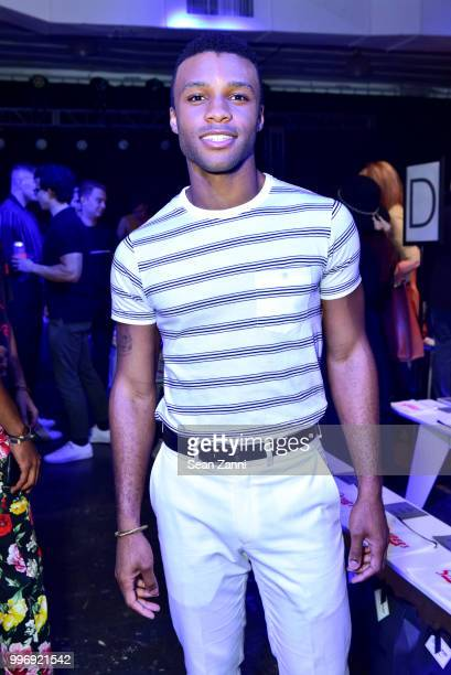 Dyllon Burnside attends the Todd Snyder S/S 2019 Collection during NYFW Men's July 2018 at Industria Studios on July 11 2018 in New York City