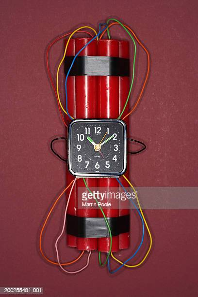 dynamite and timer, close-up - time bomb stock photos and pictures
