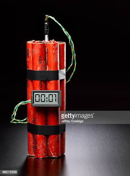 dynamite with digital timer - dynamite stock photos and pictures