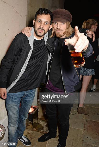 Dynamo and Chris Edwards attend the Soho House event to celebrate Kasabian's performance at the iTunes Festival London on September 5 2014 in London...