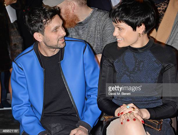 Dynamo and Jessie J attend the Hunter Original AW 2014 Show at Ambika P3 Gallery University of Westminster on February 15 2014 in London England