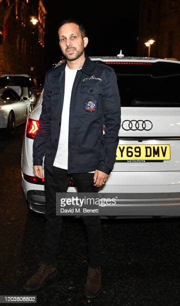 Dynamo arrives in an Audi at the GQ Car Awards at Corinthia London on February 03 2020 in London England