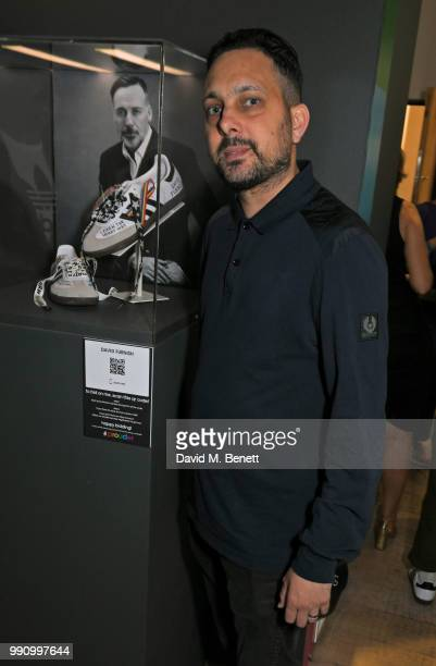 Dynamo attends adidas 'Prouder' A Fat Tony Project in aid of the Albert Kennedy Trust supporting LGBT youth at Heni Gallery Soho on July 3 2018 in...