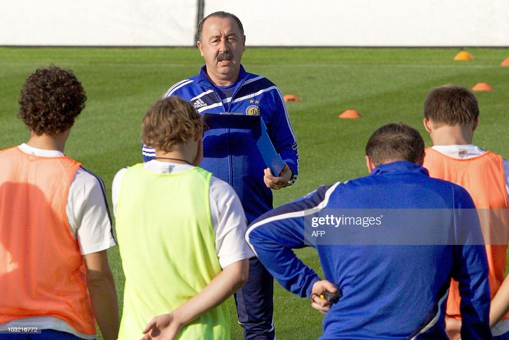 Dynamo Kiev head coach Valeri Gazzaev (b : News Photo
