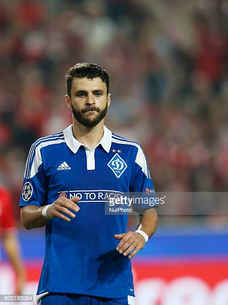 Dynamo Kyiv's forward Moraes reacts after his penalty kick failure during Champions League 2016/17 match between SL Benfica vs Dynamo Kyiv in Lisbon...