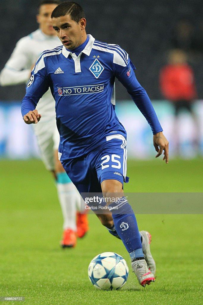 FC Dynamo KyivÕs midfielder Derlis Gonzalez during the Champions League match between FC Porto and FC Dynamo Kyiv at Estadio do Dragao on November 24, 2015 in Porto, Portugal.