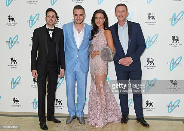 Dynamo Liam Payne Sophia Smith and Scott Mills attend The Great Gatsby Ball in support of Trekstock at Bloomsbury Ballroom on April 16 2015 in London...