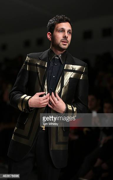 Dynamo walks the runway at the Fashion For Relief charity fashion show to kick off London Fashion Week Fall/Winter 2015/16 at Somerset House on...