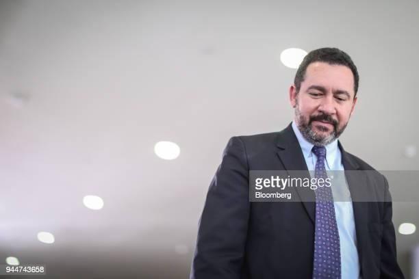 Dyogo Oliveira president of Banco Nacional de Desenvolvimento Economico e Social exits from a ceremony for new ministers at the Planalto Palace...