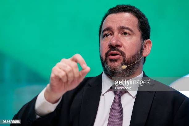 Dyogo Oliveira president of Banco Nacional de Desenvolvimento Economico e Social speaks during the Brazil Investment Forum in Sao Paulo Brazil on...