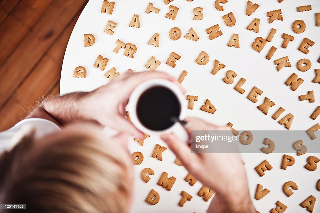 Dyslexia spelled in cookies : Stockfoto