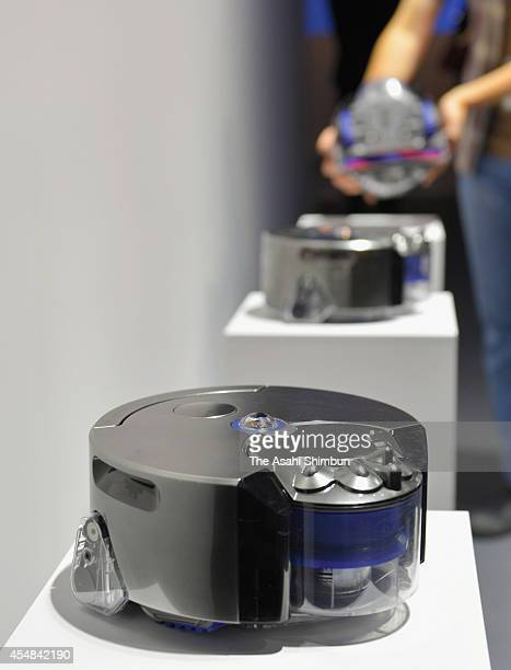 Dyson Company's 'Dyson 360 Eye' robot vacuum cleaner is on display at its unveiling on September 4 2014 in Tokyo Japan The cleaner will be on sale in...