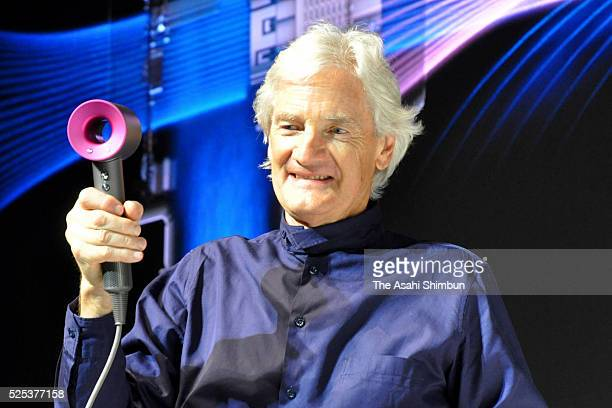 Dyson founder James Dyson introduces their new hair dryer at the unveiling on April 27 2016 in Tokyo Japan