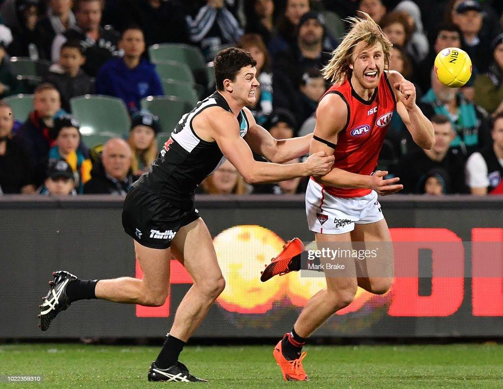 AFL Rd 23 - Port Adelaide v Essendon : News Photo