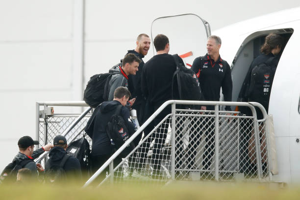 AUS: AFL Teams Continue to Depart Melbourne For Time In AFL Hubs