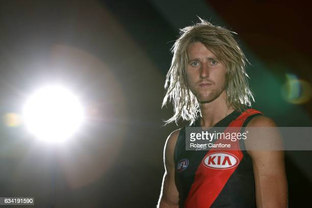 Dyson Heppell of the Bombers poses for a portrait after the Essendon Bombers AFL intraclub match at True Value Solar Centre on February 8 2017 in...