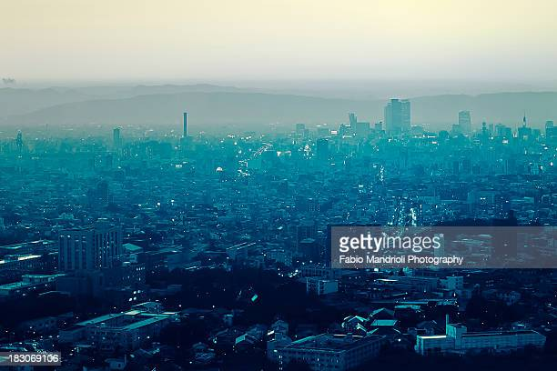 dystopic nagoya - nagoya stock pictures, royalty-free photos & images
