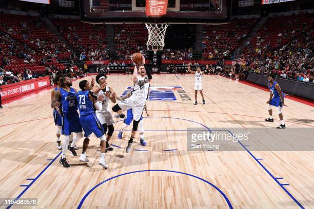 Dzanan Musa of the Brooklyn Nets goes to the basket against the Orlando Magic on July 10 2019 at the Thomas Mack Center in Las Vegas Nevada NOTE TO...