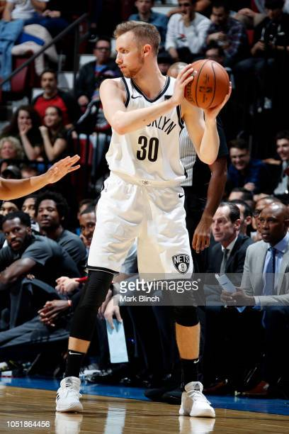 Dzanan Musa of the Brooklyn Nets handles the ball against the Toronto Raptors during a preseason game on October 10 2018 at Bell Centre in Montreal...