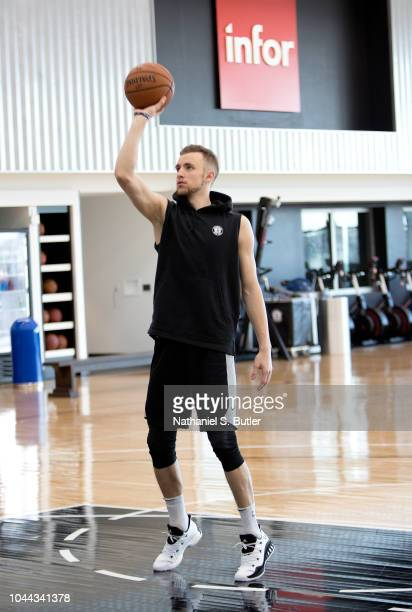 Dzanan Musa of the Brooklyn Nets handles the ball during practice on September 27 2018 at HSS Training Center in Brooklyn New York NOTE TO USER User...