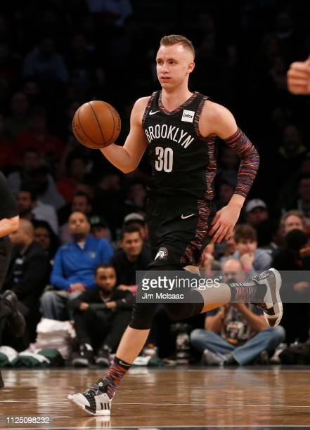 Dzanan Musa of the Brooklyn Nets in action against the Milwaukee Bucks at Barclays Center on February 4 2019 in the Brooklyn borough of New York City...