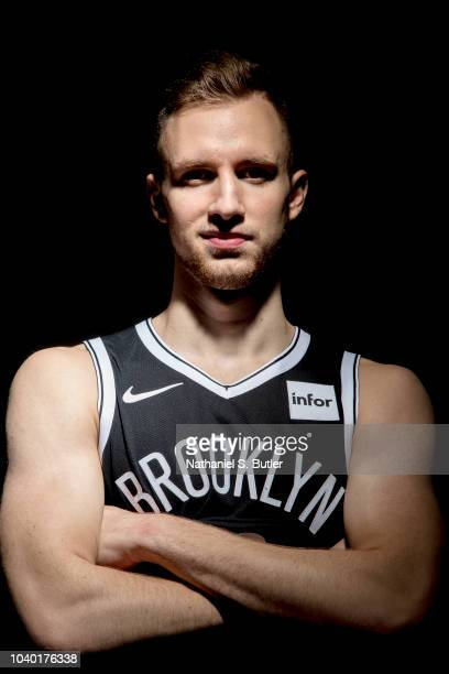 Dzanan Musa of the Brooklyn Nets poses for a portrait during Brooklyn Nets Media Day on September 24 2018 at HSS Training Center in Brooklyn New York...