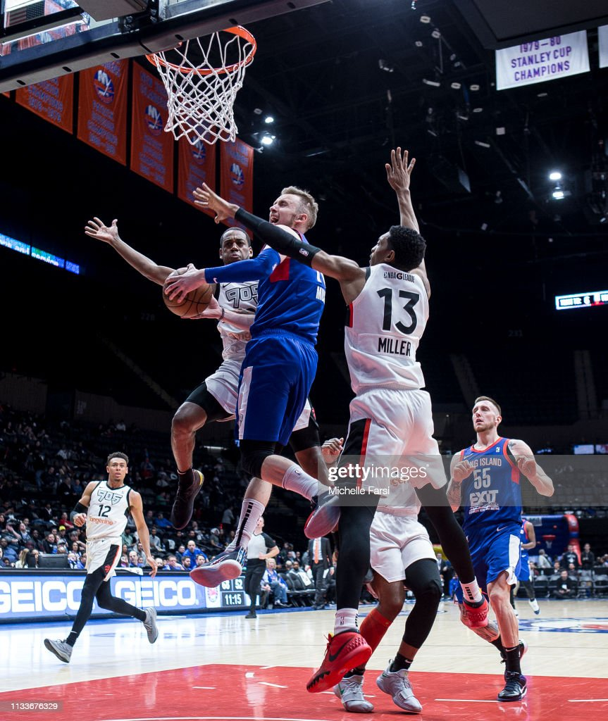 0342ebc5e21 Dzanan Musa of the Long Island Nets shoots v Raptors 905 during an ...
