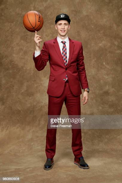 Dzanan Musa poses for a portrait after being drafted by the Brooklyn Nets during the 2018 NBA Draft on June 21 2018 at Barclays Center in Brooklyn...
