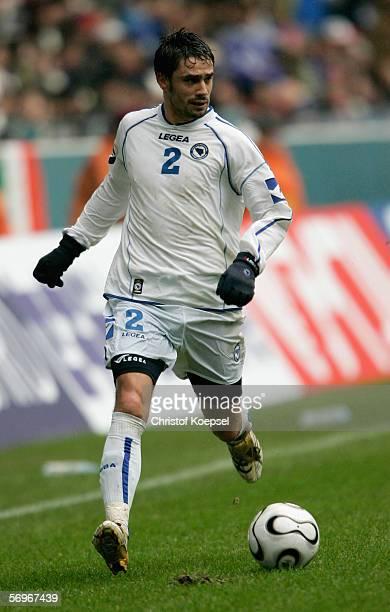 Dzemal Berberovic of Bosnia and Herzegovina runs with the ball during the international friendly match between Japan and Bosnia Herzegovina at the...