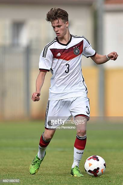 Dzenis Burnic of Germany in action during the International Friendly match between U16 France and U16 Germany at Stade Perruc on June 4 2014 in...