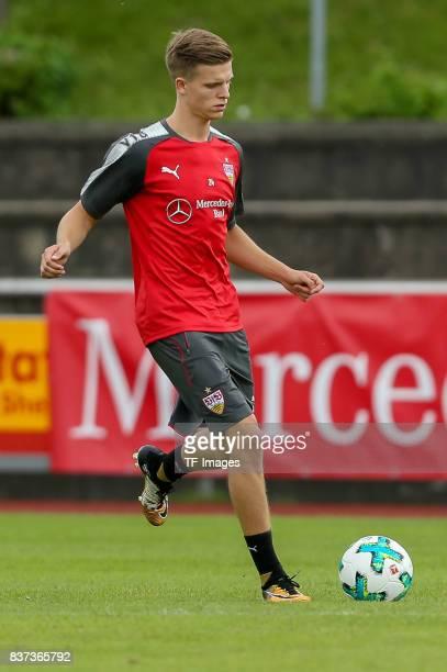 Dzenis Burnic of VfB Stuttgart controls the ball during the Training Camp of VfB Stuttgart on July 10 2017 in Grassau Germany