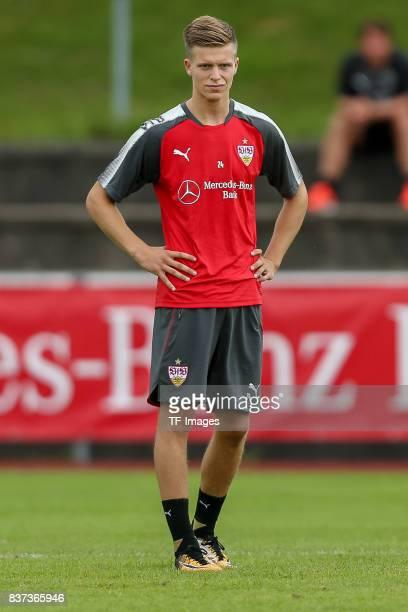 Dzenis Burnic of VfB Stuttgart looks on during the Training Camp of VfB Stuttgart on July 10 2017 in Grassau Germany