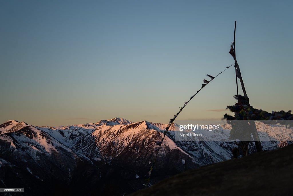 Dzongri at Dawn, Sikkim : Stock Photo