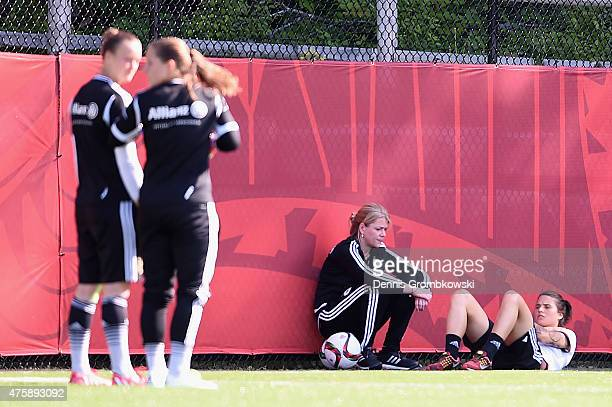 Dzsenifer Maroszan of Germany practices seperately after suffering an injury during a training session at Richcraft Recreation Complex on June 4 2015...
