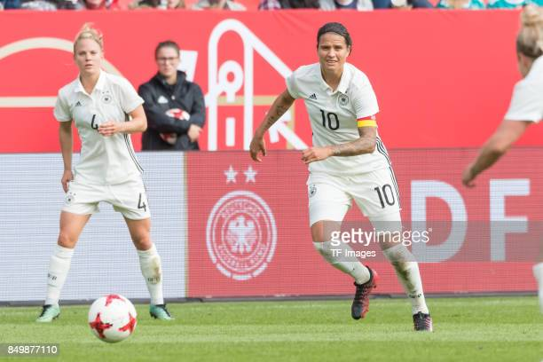 Dzsenifer Marozsan of Germany in action during the 2019 FIFA women's World Championship qualifier match between Germany and Slovenia at Audi...