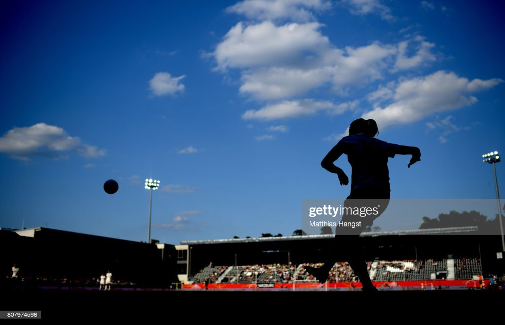 Dzsenifer Marozsan of Germany takes a corner-kick during the Women's International Friendly match between Germany and Brazil at BWT-Stadion am Hardtwald on July 4, 2017 in Sandhausen, Germany.