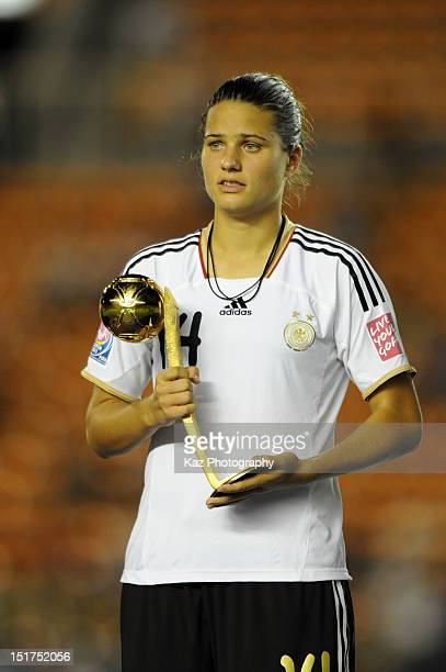 Dzsenifer Marozsan of Germany wins the adidas Golden Ball during the FIFA U20 Women's World Cup Final match between USA and Germany at the National...