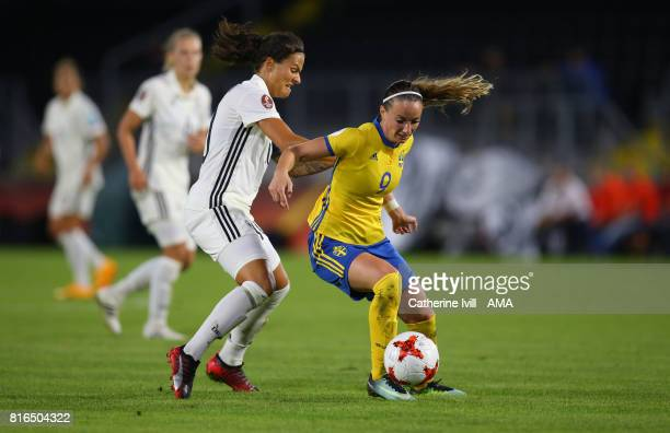 Dzsenifer Marozsan of Germany Women and Kosovare Asllani of Sweden Women during the UEFA Women's Euro 2017 Group B match between Germany and Sweden...