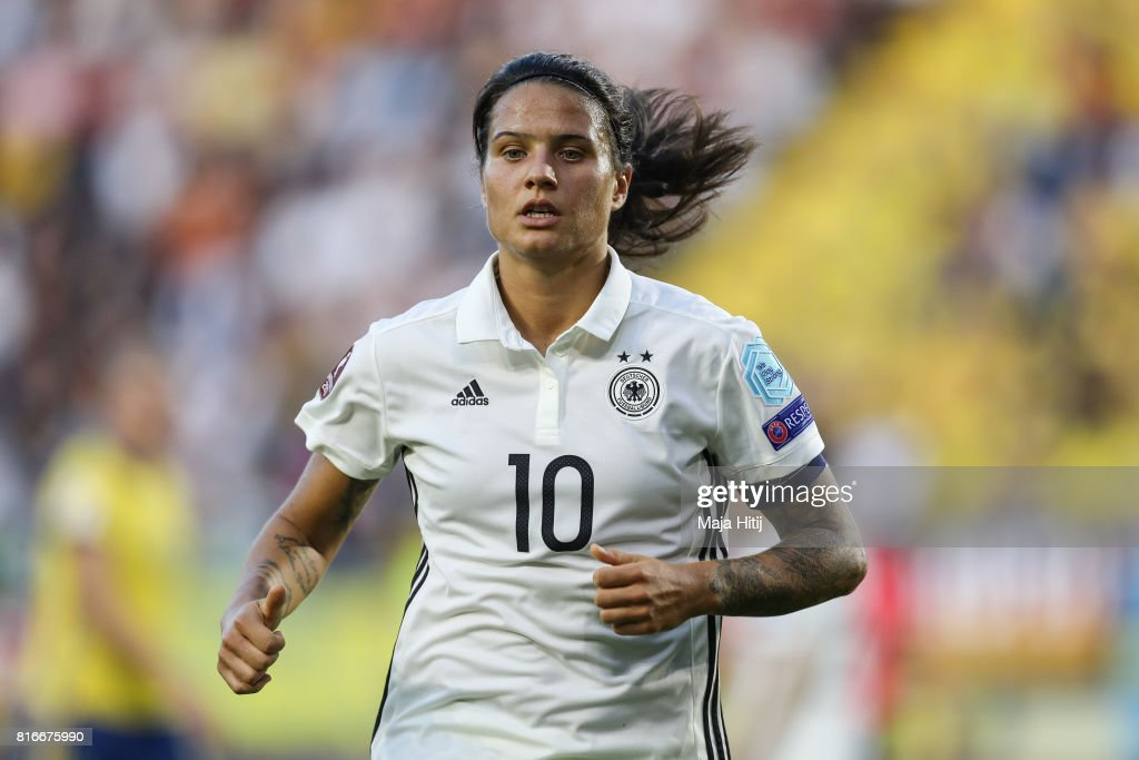 Dzsenifer Marozsan runs during the Group B match between Germany and Sweden during the UEFA Women's Euro 2017 at Rat Verlegh Stadion on July 17, 2017 in Breda, Netherlands.