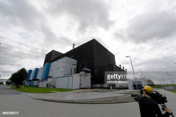e exterior of the Brunsbuettel nuclear power station in Brunsbuettel Germany 22 August 2017 The station's operator Vattenfall informed visitors about...