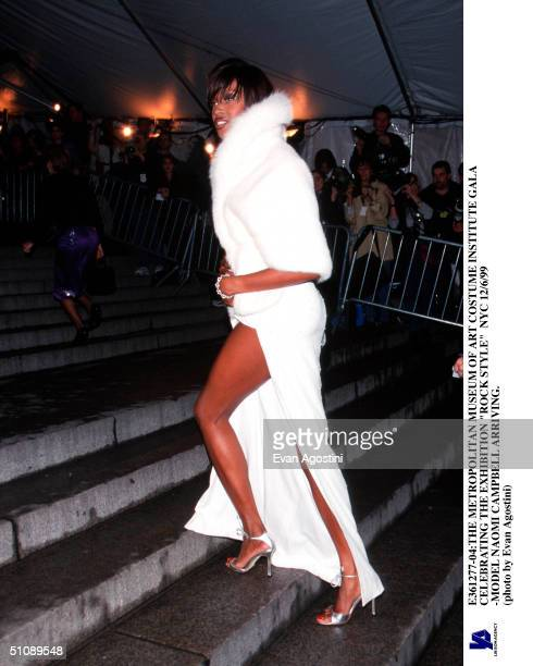The Metropolitan Museum Of Art Costume Institute Gala Celebrating The Exhibition 'Rock Style' Nyc 12/6/99 Model Naomi Campbell Arriving