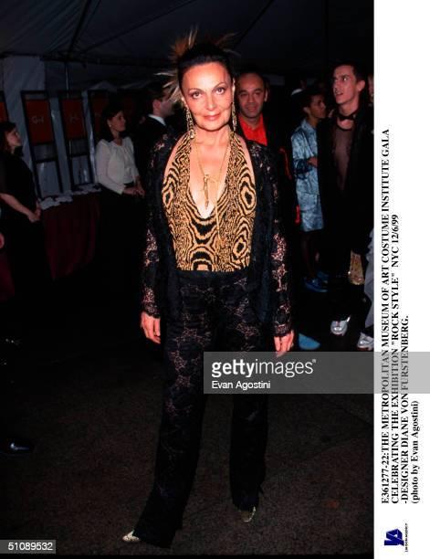 The Metropolitan Museum Of Art Costume Institute Gala Celebrating The Exhibition Rock Style Nyc 12/6/99 Designer Diane Von Furstenberg