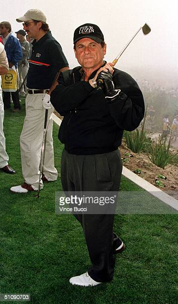 Joe Pesci Prepares For A HoleInOne Contest As Part Of The Michael Douglas And Friends Celebrity Golf Tournament On March 18 2000 In Palos Verdes Ca