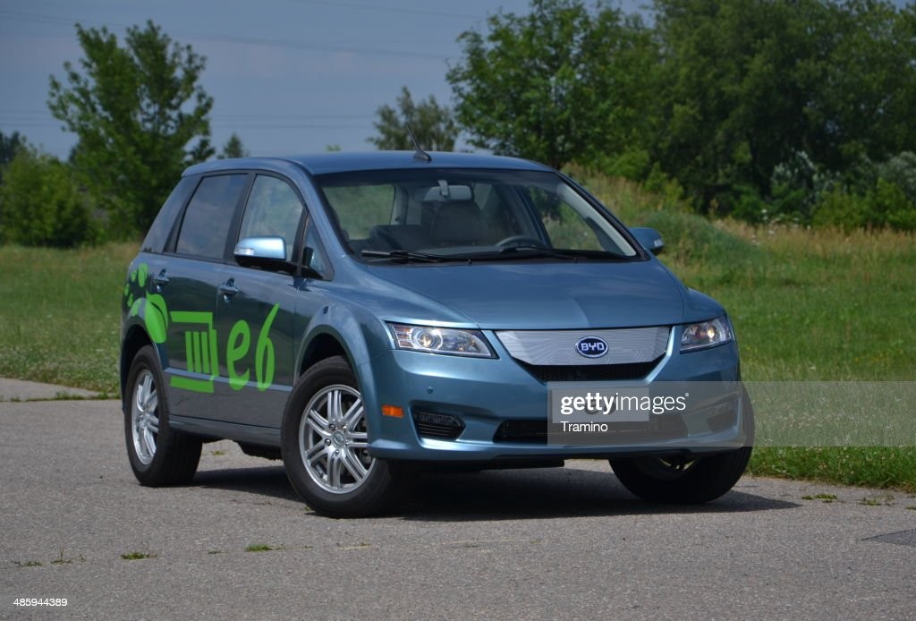 Byd E6 Electric Car Stock Photo