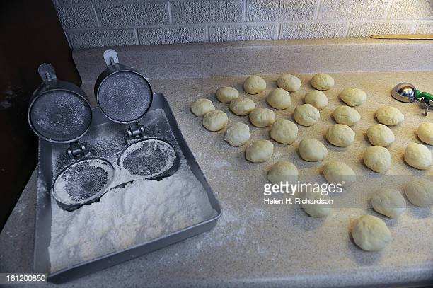 Each lefse ball is made from an ice cream scoop then pressed with this mold on the left Beverly King and her husband Robert have been running a small...