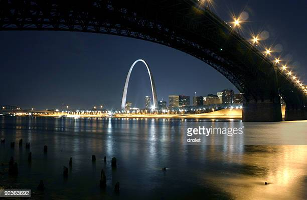 Eads Bridge St. Louis Arch at Night