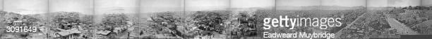 Eadweard Muybridge's elevenframe panorama of San Francisco California