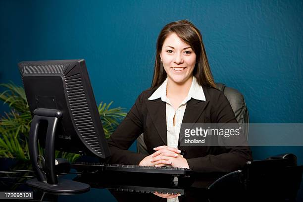 Eager Business Woman