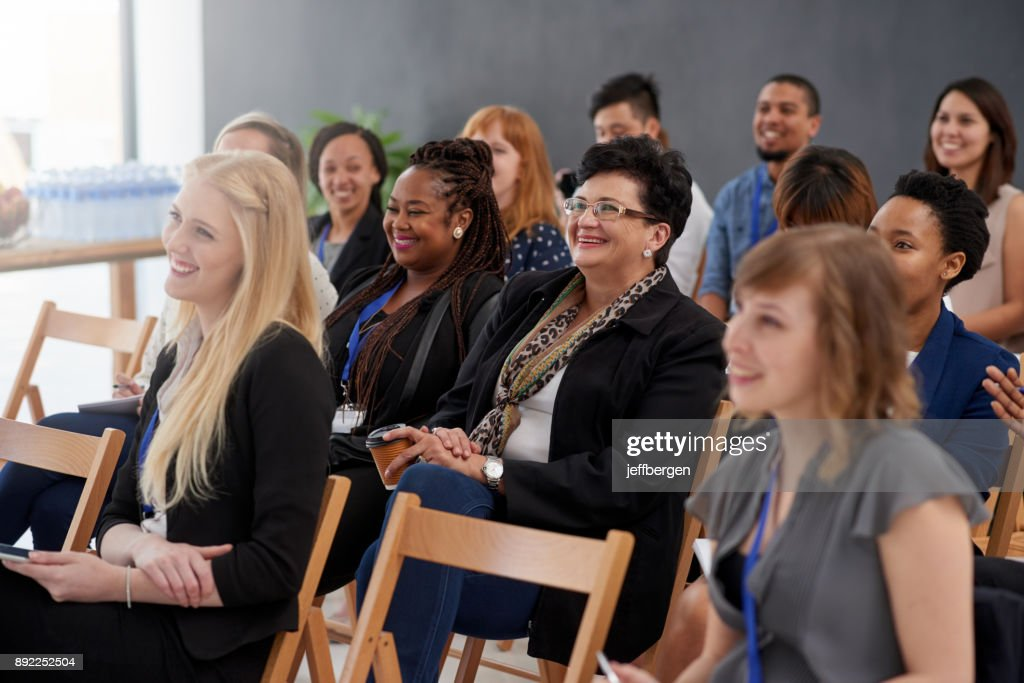 Eager to absorb the information : Stock Photo